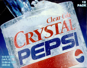 Crystal Pepsi - A short-lived ancillary product?