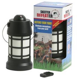 Skeeter Defeater kills mosquitoes on contact